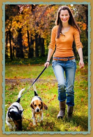 Woman Walking Dogs Business Idea