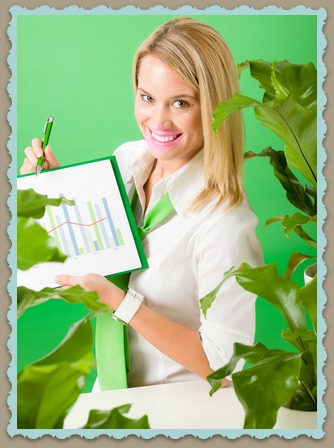 Woman With Green Business Ideas