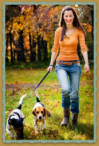 Woman Walking Dogs Business Idea