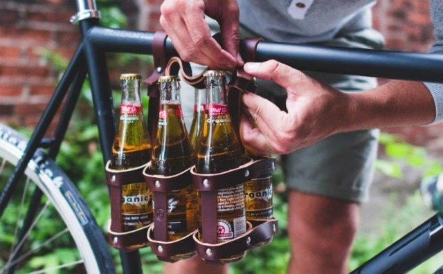 Fyxation Leather Bicycle 6-Pack Carrier