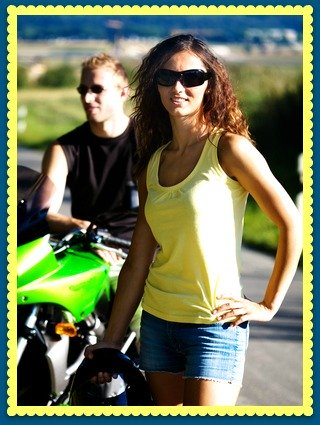 Couple in Motorcycle Classes