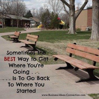 Sometimes the BEST Way to Get Where You're Going Is to Go Back to Where You Started